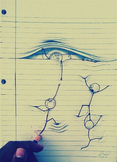 amazing drawings  lined paper xcitefunnet