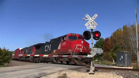CN Freight Train- Slinger Road - YouTube
