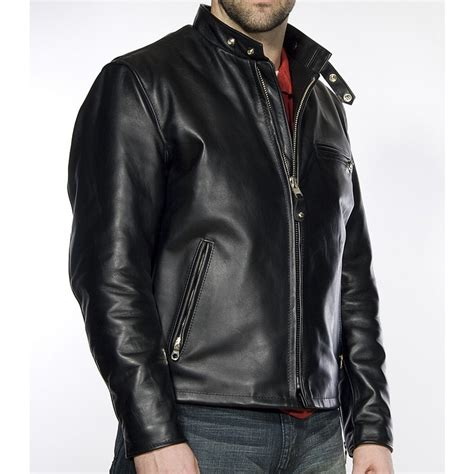 moto biker jacket classic racer leather motorcycle jacket
