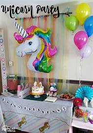 Unicorn Birthday Party Dessert Table Ideas