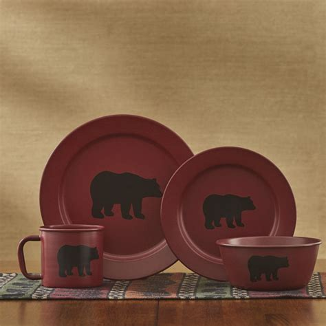 linville enamel bear dinner plate park designs