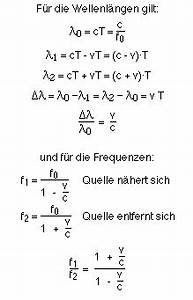 Geschwindigkeit Berechnen Formel : der doppler effekt ~ Themetempest.com Abrechnung