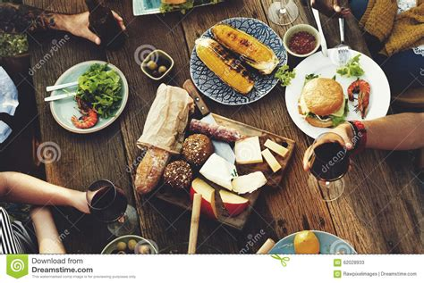 food table delicious meal prepare cuisine concept stock