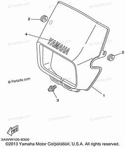 Yamaha Motorcycle 2002 Oem Parts Diagram For Cowling 1