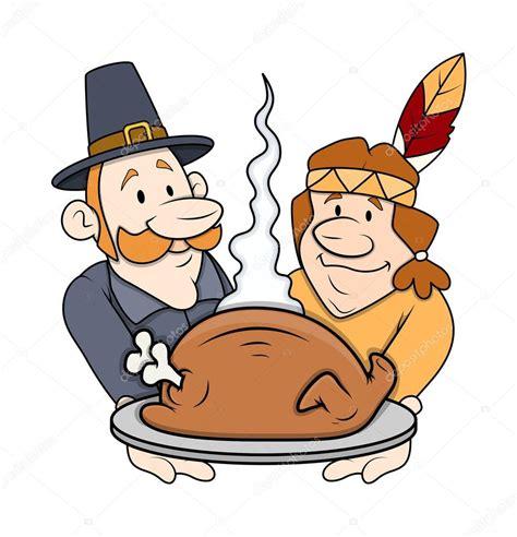 imagenes del dia thanksgiven thanksgiving day cartoon characters stock vector