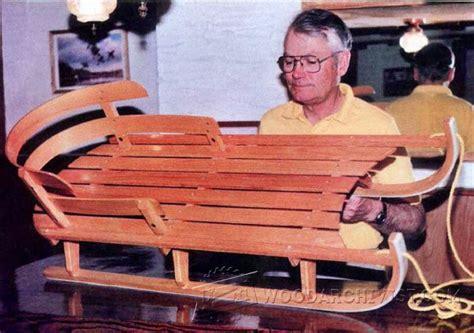 bentwood sleigh plans woodarchivist