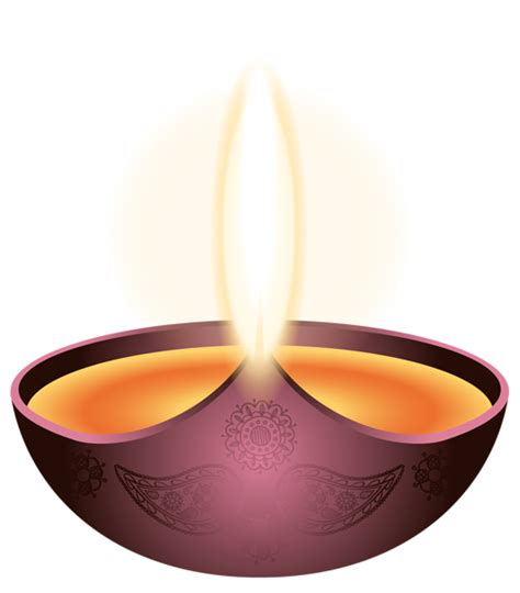 Purple Candle Happy Diwali Png Image Gallery