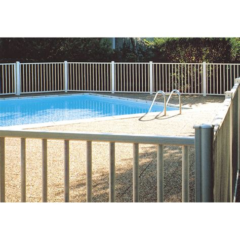 barri 232 re pour piscine aluminium issambres blanc 9010 h 120 x l 100 cm leroy merlin