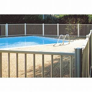 Barriere pour piscine aluminium issambres blanc 9010 h for Barriere securite piscine leroy merlin
