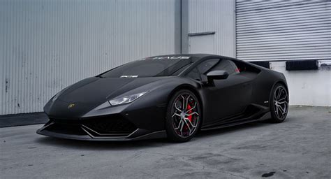 lamborghini huracan custom stealthy lamborghini huracan sits on custom pur wheels
