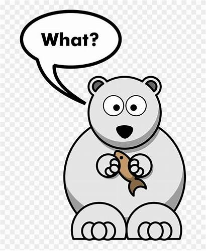 Bear Polar Funny Cartoon Drawing Joke Clipart