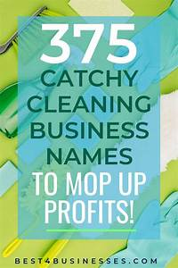 Catchy Cleaning Company Names 375 Catchy Cleaning Business Names To Mop Up Profits