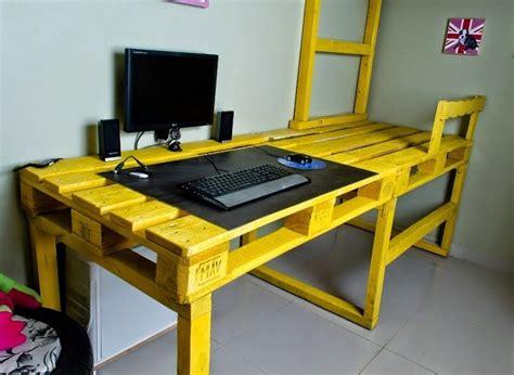 couleur peinture bureau bureau en bois 34 idées diy très cool en palette europe
