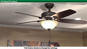 How to install a hunter xxxx series model ceiling fan