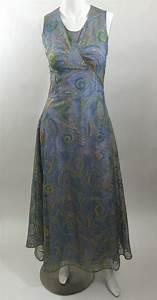 Rodarte Van Gogh Metallic Embroidered Dress Spring 2012