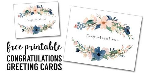 congratulations card printable  printable greeting
