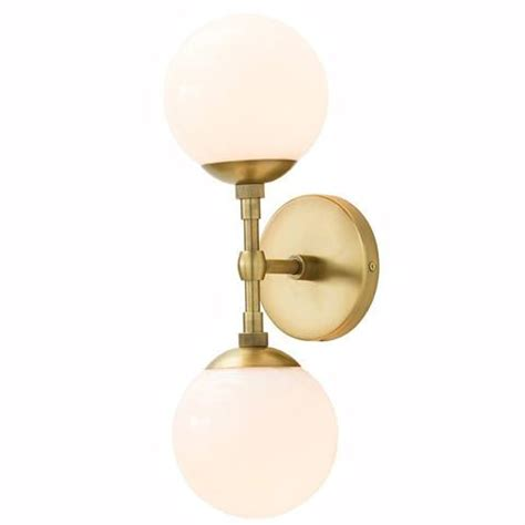brass double sphere sconce pieces