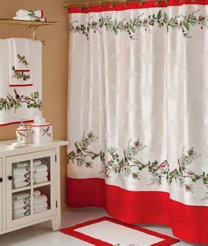 curtain ideas christmas bathroom shower curtains