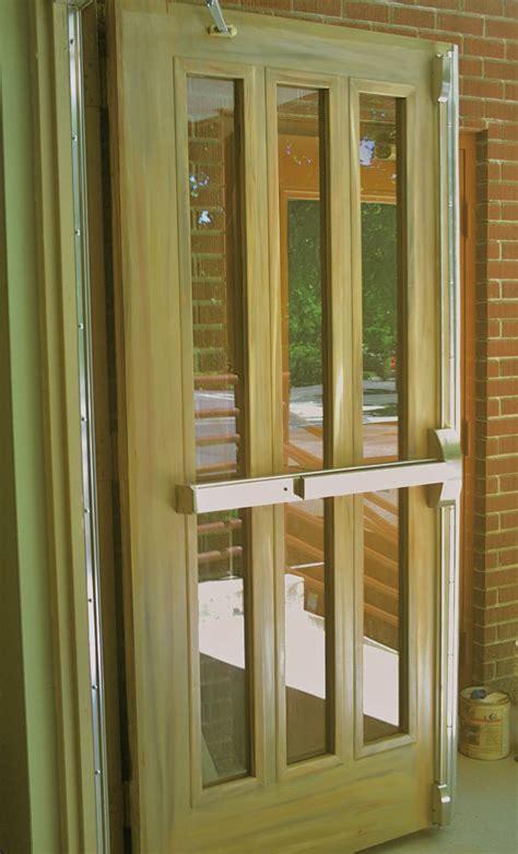 commercial interior metal doors, wood grained doors