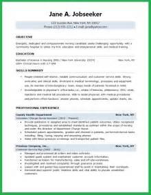Nursing Resume Job Objective Example Good Resume Template