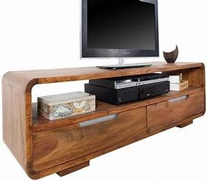 Meuble Tv Bois : soldes meuble tv design en bois massif coloris naturel meuble tv design meubles tv salon ~ Teatrodelosmanantiales.com Idées de Décoration