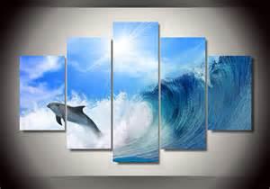 Dolphins Ocean Paintings Seascape