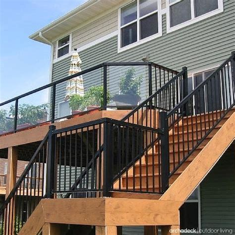 Elevated Deck Railing Ideas   Metal rails, slender