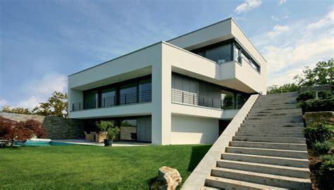 Moderne Häuser Im Hang by Architektenhaus Am Hang In Wiesbaden Bauen Contemporary