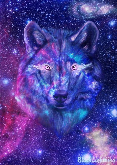 galaxy wolf  blacklightning  deviantart galaxy