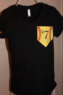 Custom Softball Mom Pocket Shirt