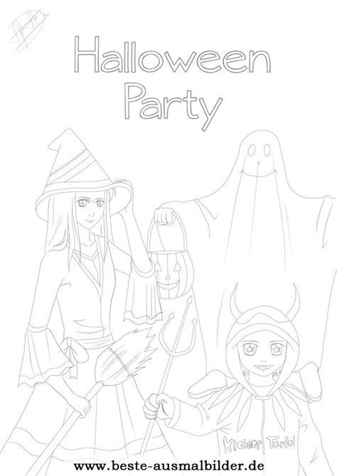 halloween kinder ausmalbild kostenlose malvorlage
