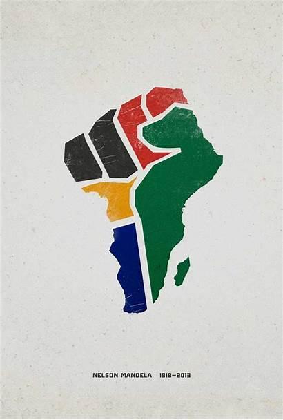 Fist Mandela Poster Creative Advertising Nelson Tribute