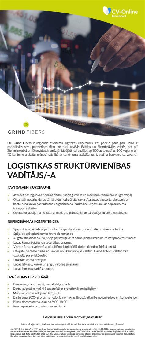 Vakance - LOĢISTIKAS STRUKTŪRVIENĪBAS VADĪTĀJS/-A, Rīga ...