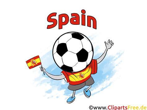 spanien fussball clipart bild kostenlos