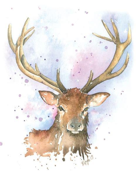 Funny Billboard Paintings watercolour print stag  paintings  drawings 642 x 790 · jpeg
