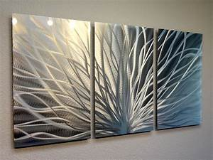 radiance 3 panel metal wall art abstract contemporary With wall panel art