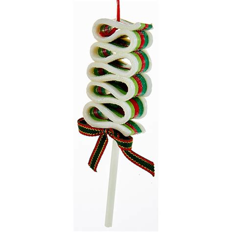 new kurt adler 5 5 quot ribbon candy lollipop christmas