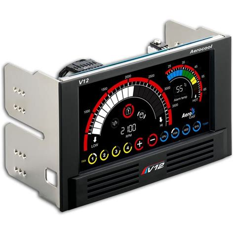 Best Computer Fan Controller by Aerocool En55369 V12xt Lcd Computer Fan Controller Panel