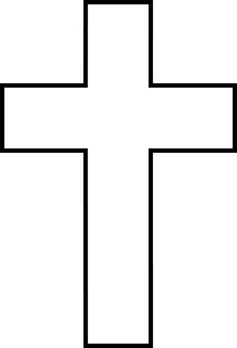 Cross Clip Free Cross Clipart Black And White Coloring Cross