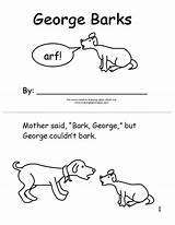 Bark George Coloring Emergent Activities Reader Template Sketchite Sketch Word sketch template