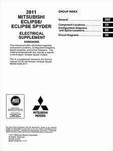 2011 Mitsubishi Eclipse  U0026 Spyder Wiring Diagram Manual