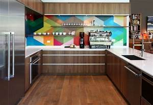credence cuisine 91 idees pour agrementer sa cuisine With kitchen cabinets lowes with papier peint mosaique