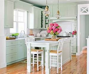 seagrass bar stools cottage kitchen bhg With kitchen colors with white cabinets with joshua 1 9 wall art