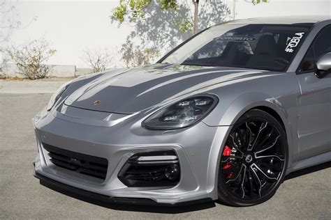 widebody porsche panamera new porsche panamera shows off widebody kit and 22 quot wheels