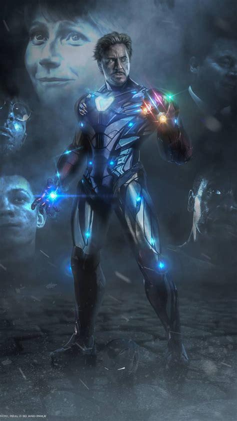 iron man infinity stones avengers endgame iphone wallpaper