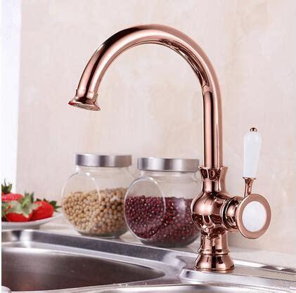 antique brass rose gold kitchen sink tap tar tar