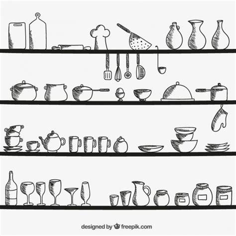 dessin ustensile de cuisine ustensiles de cuisine sur les tablettes télécharger des