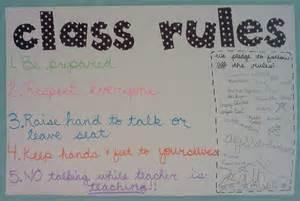 6th-Grade Classroom Rules
