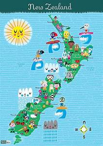 Image Result For New Zealand Map Cartoon