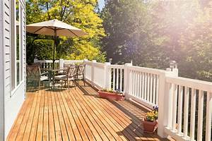 Wood, Deck, Or, Cement, Patio